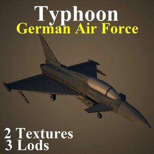 3d eurofighter typhoon gaf model