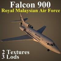 dassault falcon 900 rmf 3d max