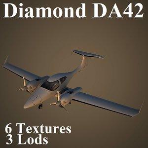 diamond da42 3d model