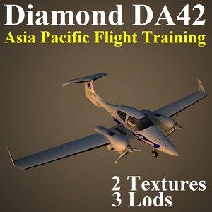 diamond da42 apa airplane 3d max