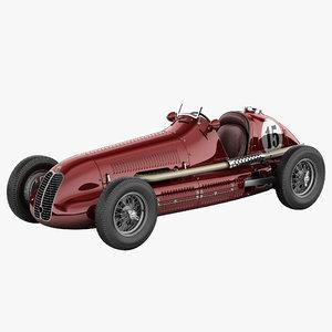 3d model maserati 4cl vintage racing car