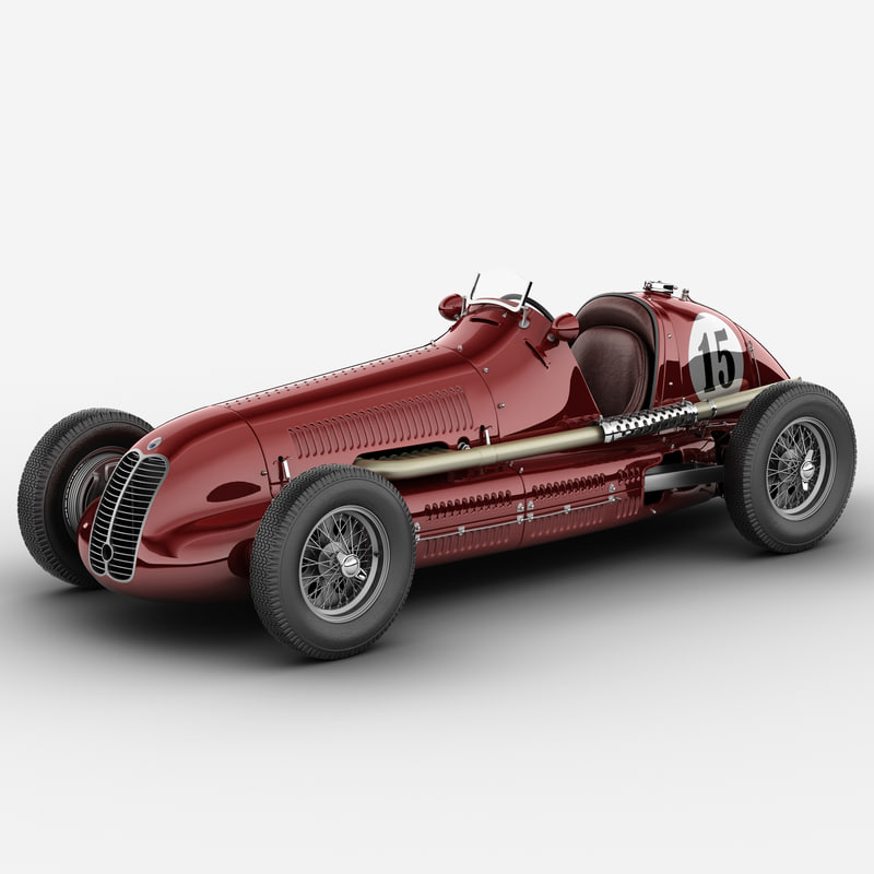 Model Maserati 4cl Vintage Racing Car