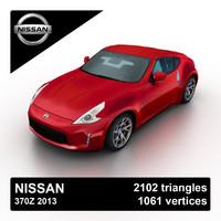 3d model 2013 nissan 370z sports