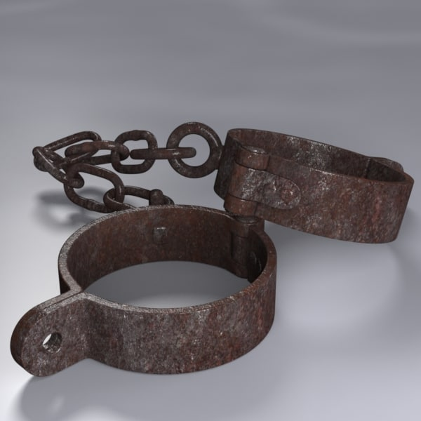rigged manacles 3d 3ds