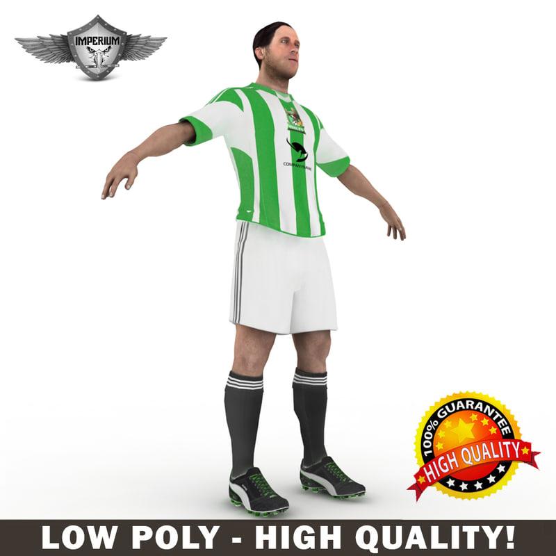 3ds max custom soccer player