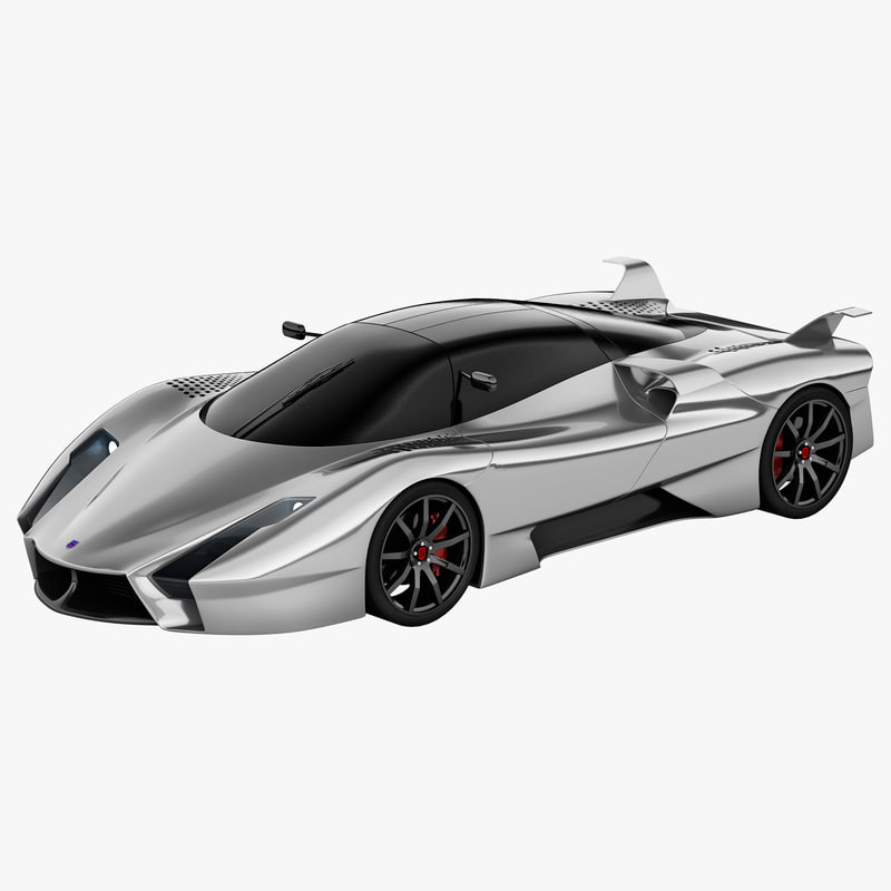 supercar ssc ultimate aero 3d c4d