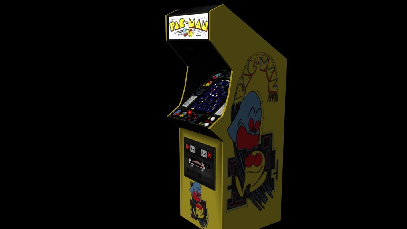 pac-man arcade machine 3d obj