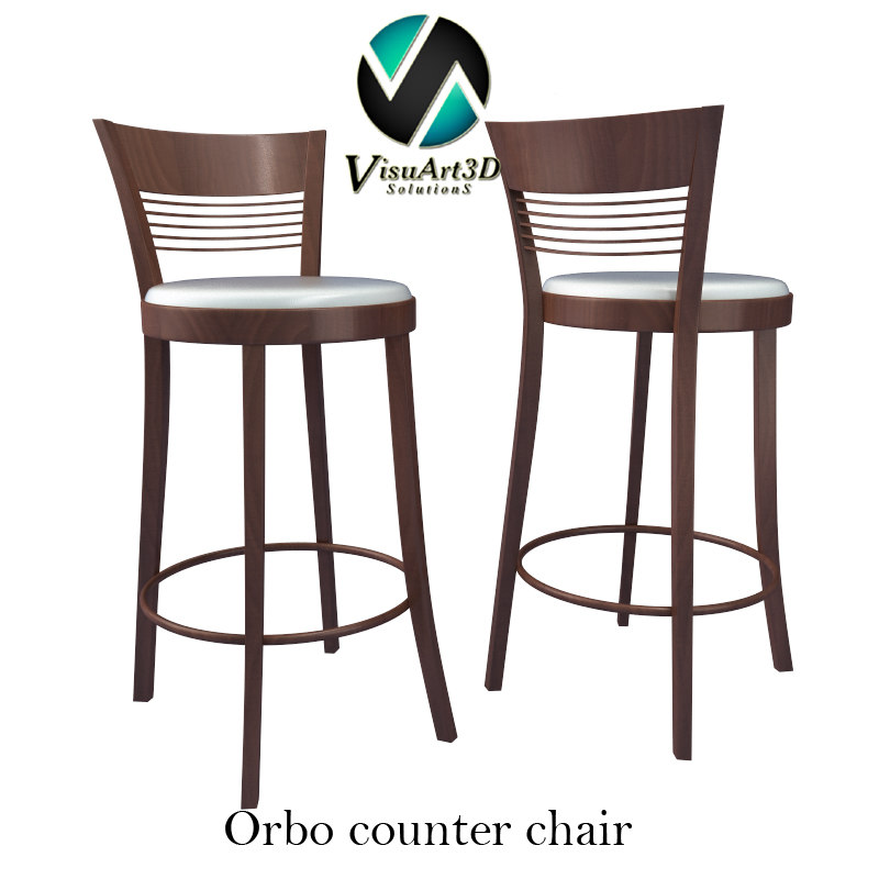 3d orbo chair materials model