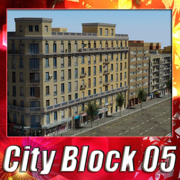 3ds european city block 05
