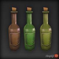 3d model bottle beer