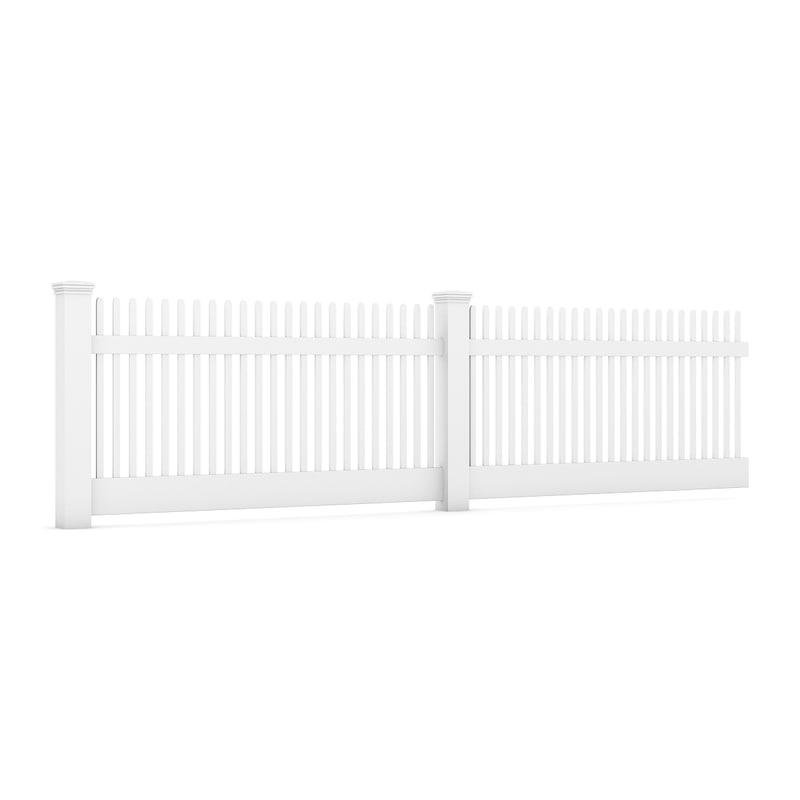 3d model wooden wood fence