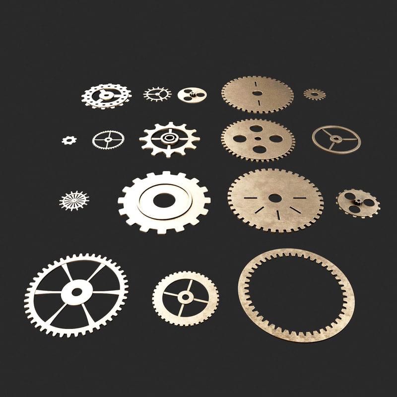 3d cog wheels model