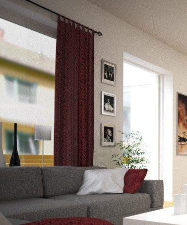 hanging curtain 3d max