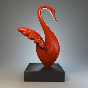 3d model sculpture statue stylized