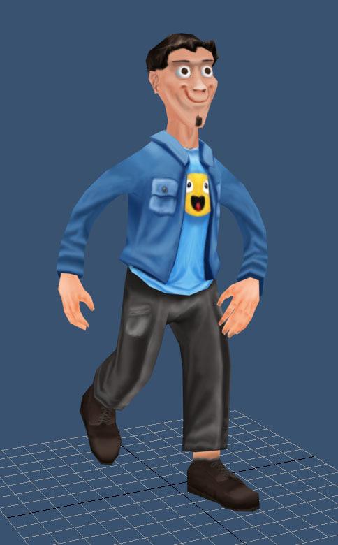casual man cartoon max
