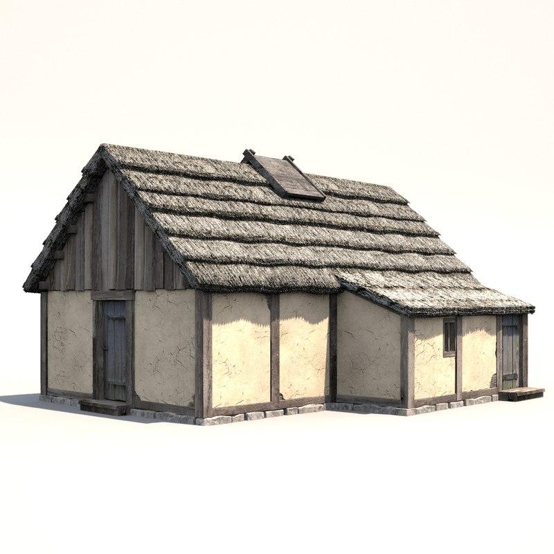 3d medieval dwelling