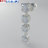 eardrops diamond 3d max