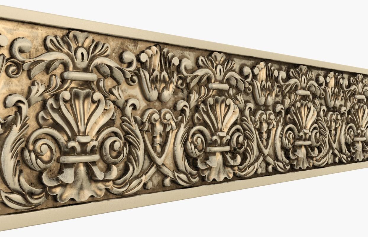 3d model moulding wall