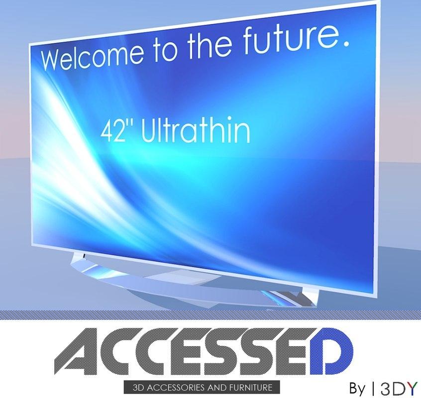 3d model accessed ultrathin tv