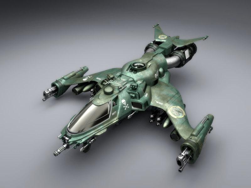 assault craft 3d model
