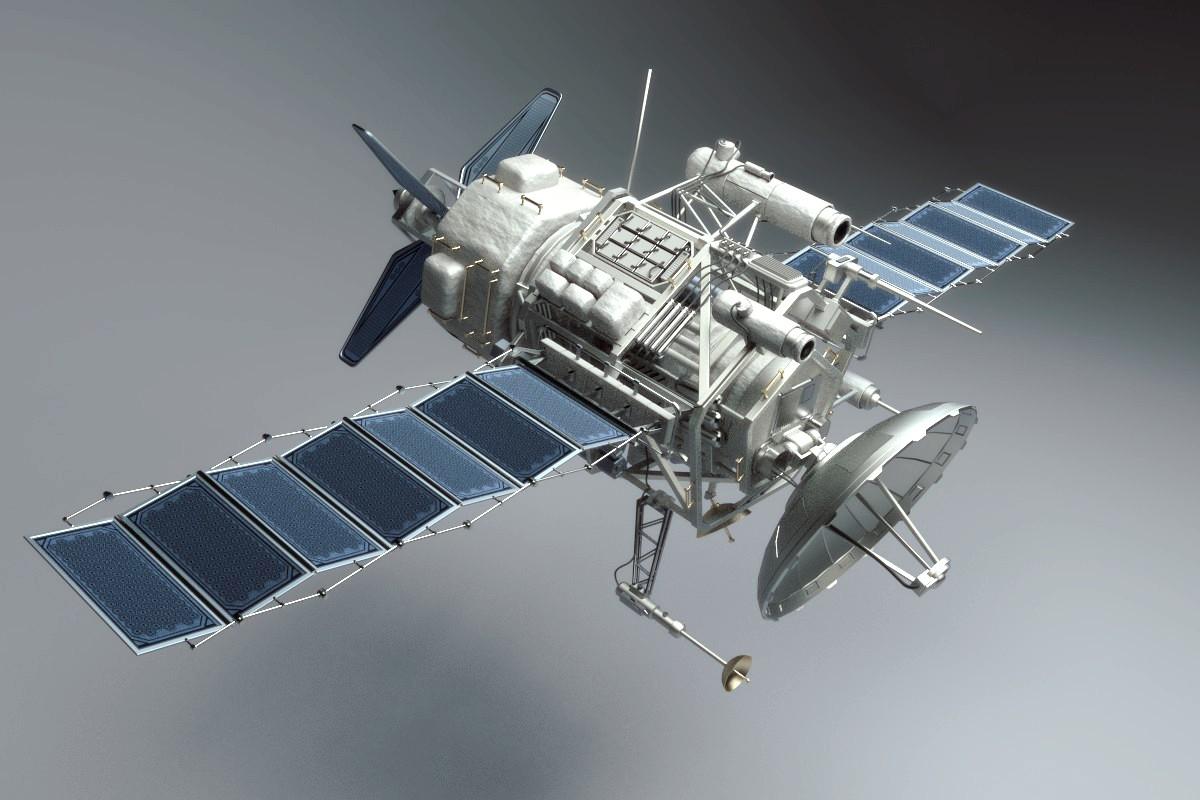 spy satellite 3d model