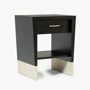 3d dame pique nightstand model