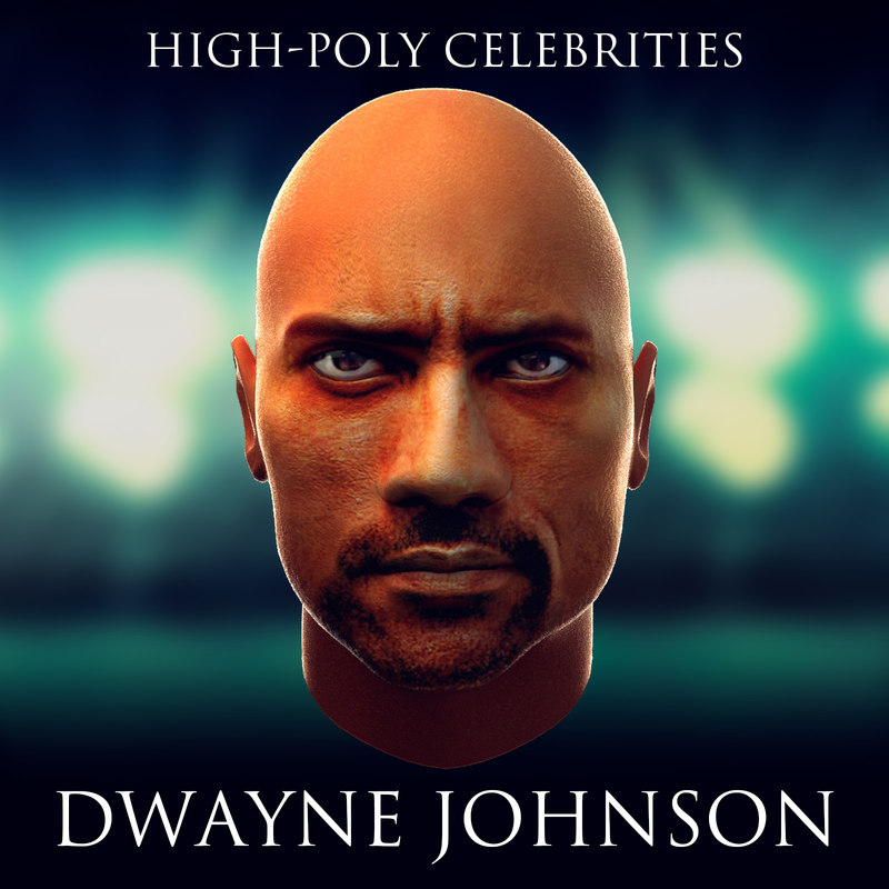 3d model of dwayne johnson
