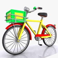 cartoon bicycle cycle 3d 3ds
