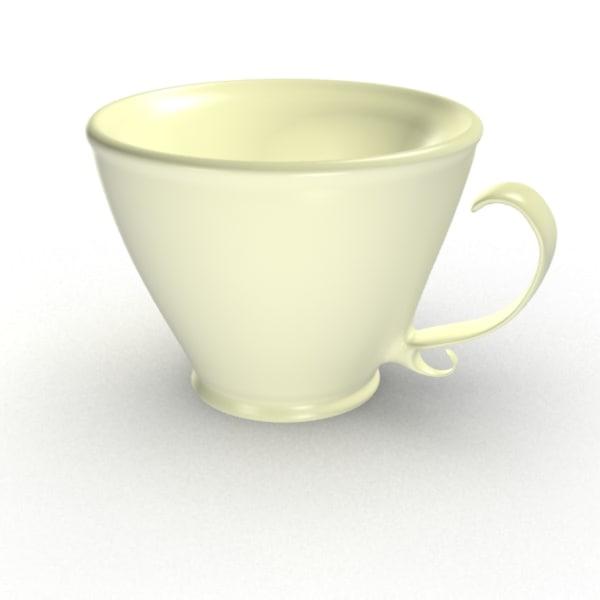 3d model victorian tea cup