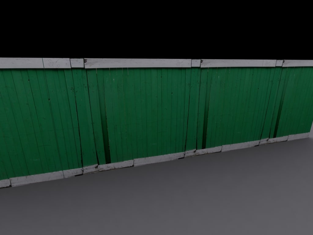 3ds max painted fence