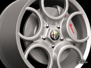 3d alfa 8c rim model