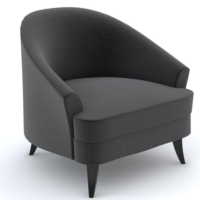 bolier classic club chair 3d model