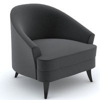 bolier classic club chair 3d model