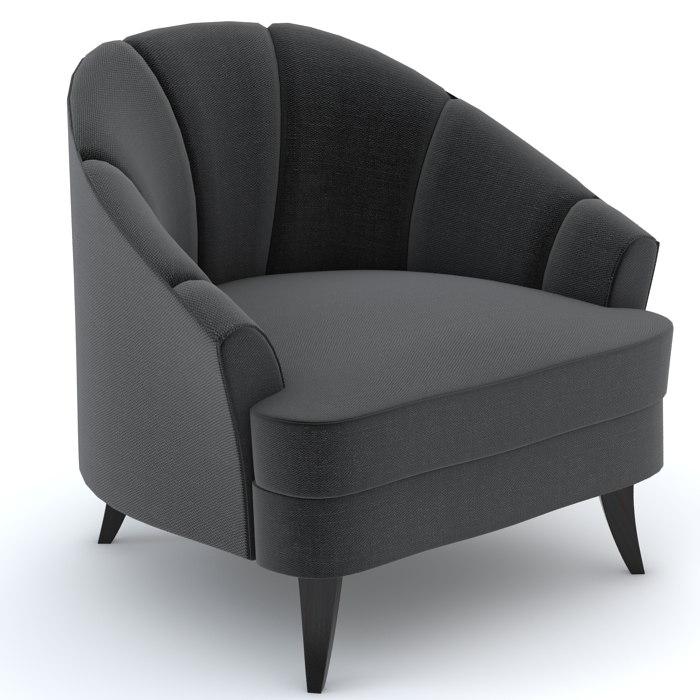3d model bolier modern luxury club chair