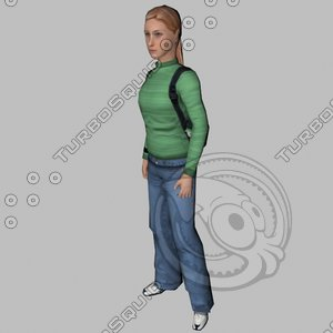 3ds max lady girl