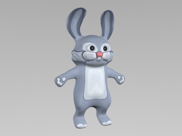 cartoon rabbit hare 3d max