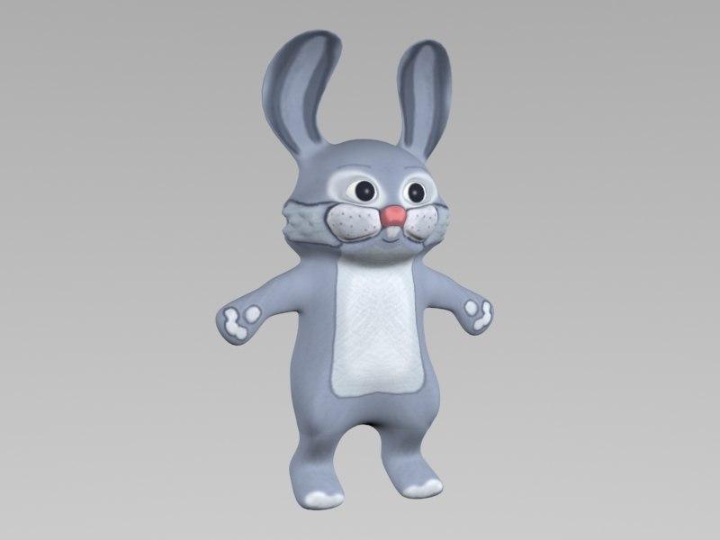cartoon rabbit hare 3d max