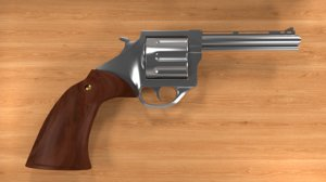 classic gun fbx