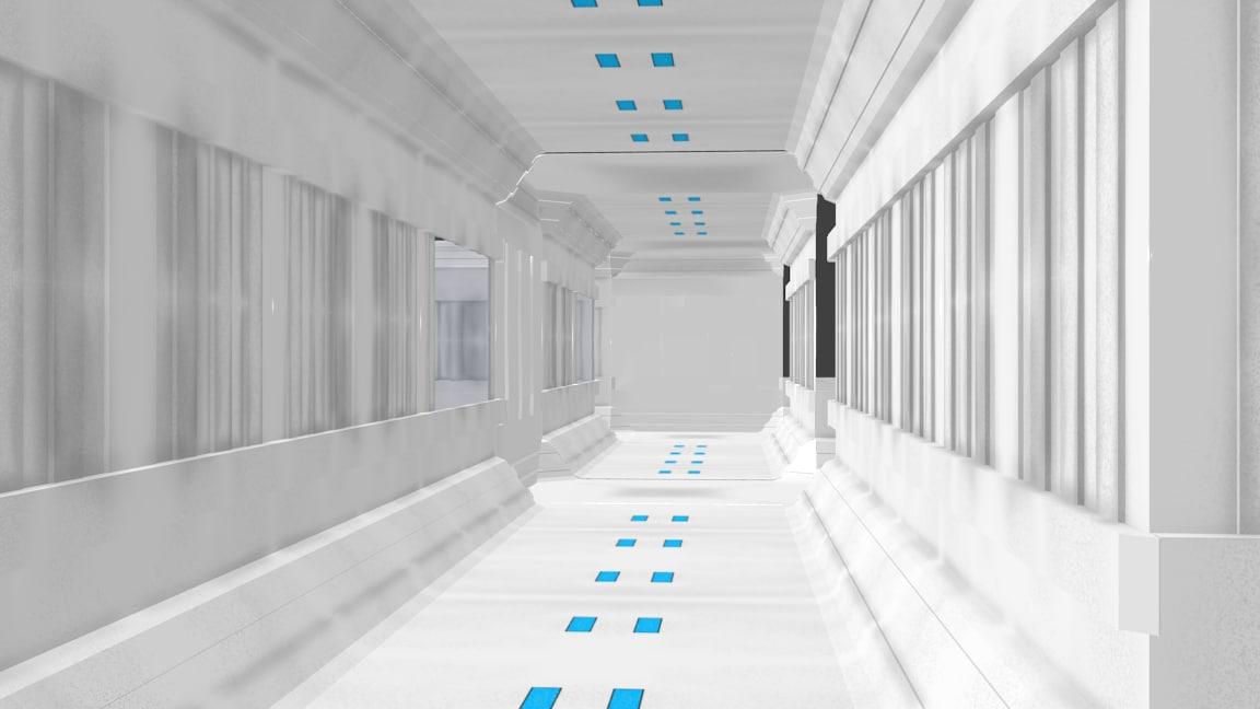 modular corridors 3d 3ds