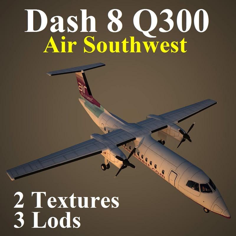 3d model bombardier dash 8 wow