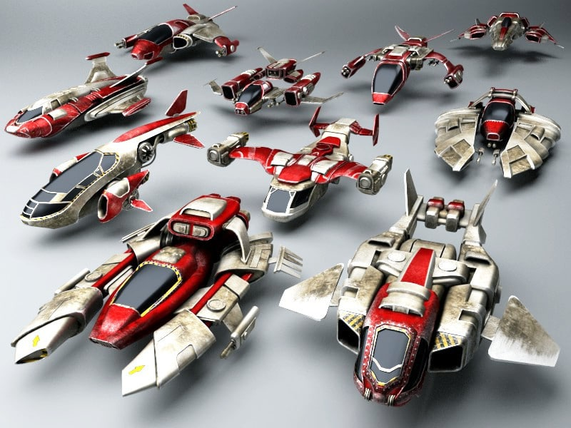 fighters ships 3ds
