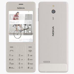 3d model nokia 515 white
