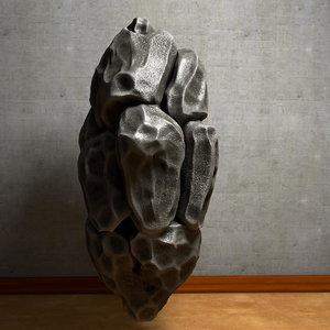 3d stone chunk throwing