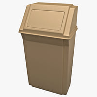wall mounted waste container 3d max