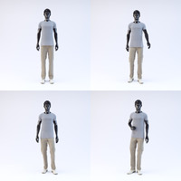 3d showroom mannequin male 02