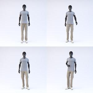 3d showroom mannequin male 02