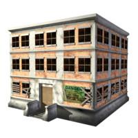 3d model abandon building