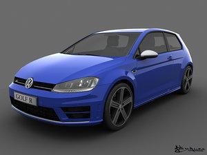 3d model volkswagen golf r 3