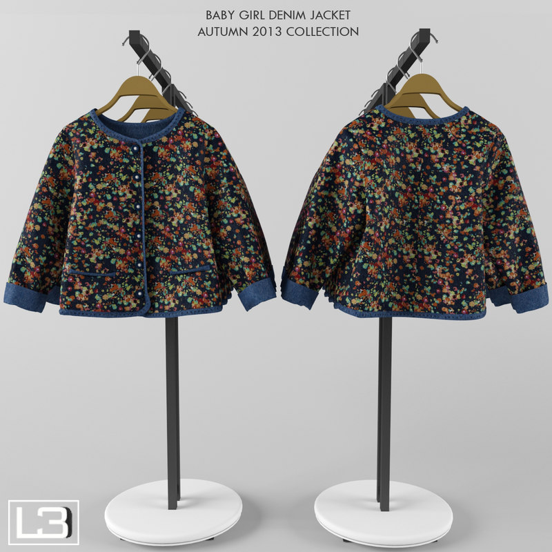 3d max baby denim jacket