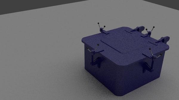 3d model access hatch